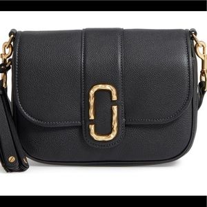 MARC JACOBS Small Courier Leather Crossbody Bag